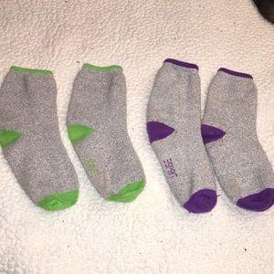 2 pairs of calf high socks
